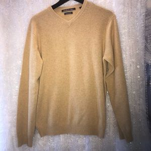 Northern Isles SMALL 2 Ply Cashmere Tan Sweater